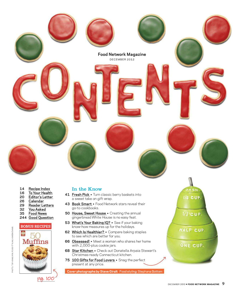 Food Network magazine | Magazines: contents page designs ...Food Magazine Table Of Contents
