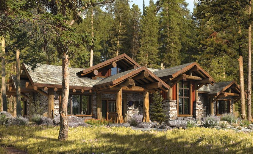 Post And Beam Homes | Truckee Post And Beam Design | Northwestern Style  Floor Plan