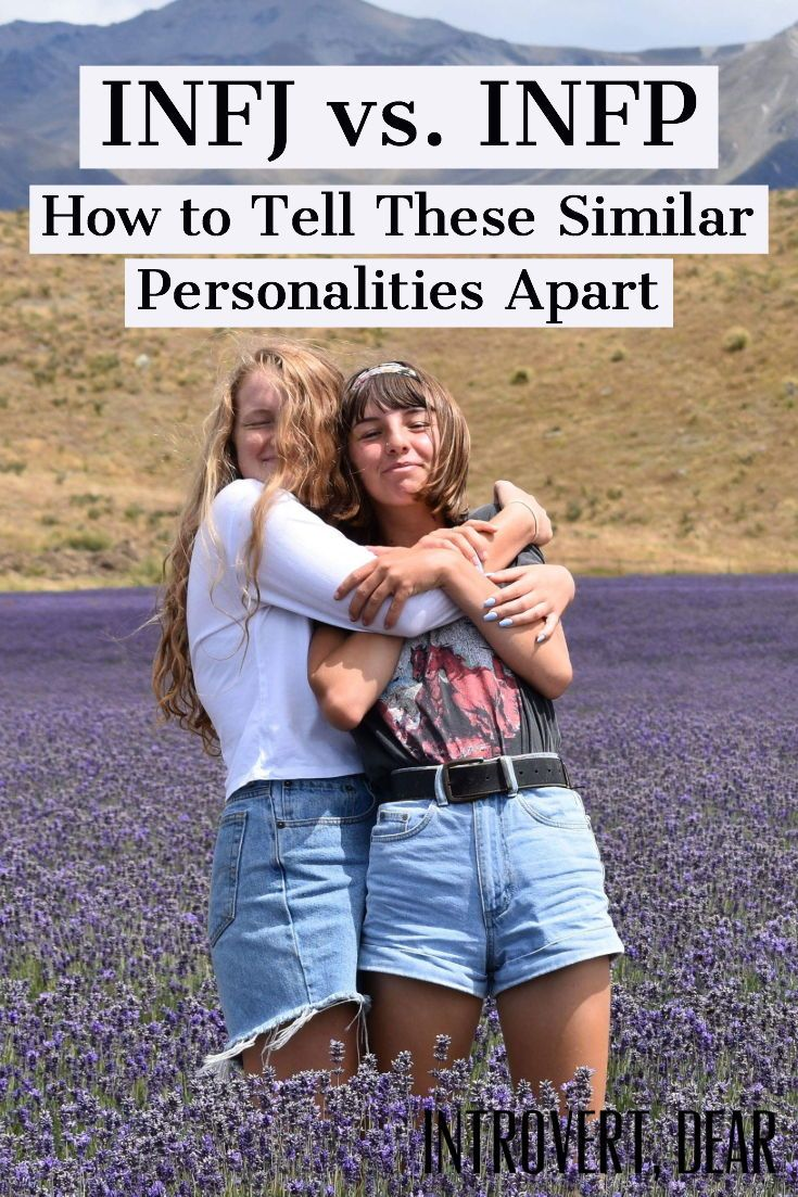 INFJ vs. INFP: How to Tell These Similar Personalities Apart | On the surface, the INFJ and INFP personalities appear very similar. Not sure which one you are? Here's how to tell. #INFJ #INFP #16personalities #MBTI #MyersBriggs #personality #personalitytype