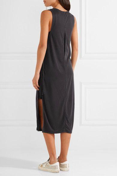 Splendid - Layered Ribbed Stretch Modal-blend Midi Dress - Black -
