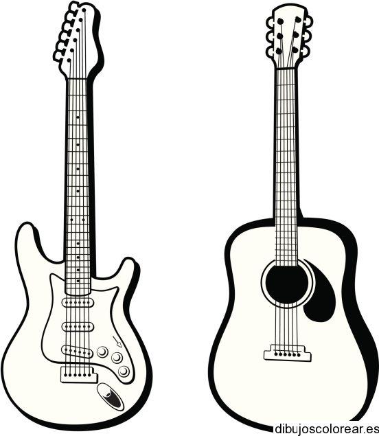 dibujos de guitarras - Buscar con Google | manualidades | Pinterest ...