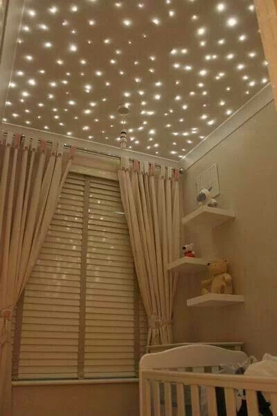 12 constellation projects products and pretties for your home fiber optic star lights baby nursery ceiling forget a nursery i want this in my room its like the adult version of the glow in the dark stars that go aloadofball Image collections