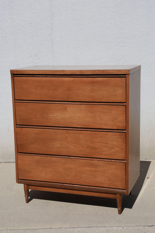 Vintage Mid Century Modern Broyhill Dresser Mcm Vintage Highboy Dresser Wood Floor Lamp Mid Century Modern Mid Century