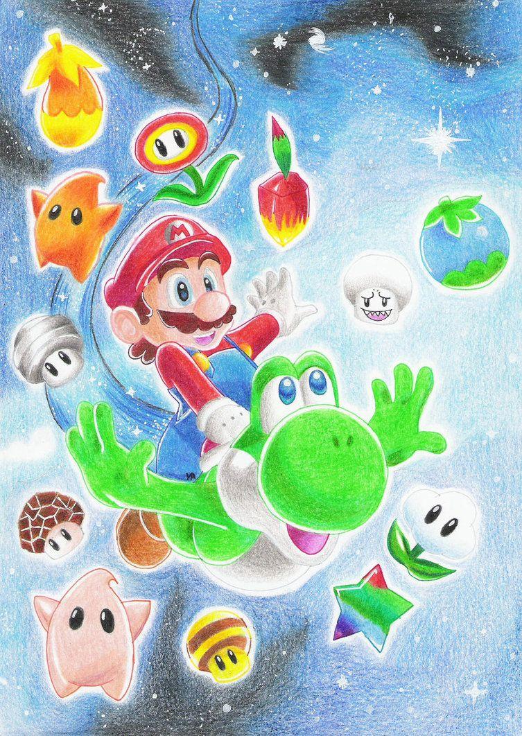 Super Mario Galaxy 2 By Ashayx Super Mario Coloring Pages Super Mario Galaxy Super Mario
