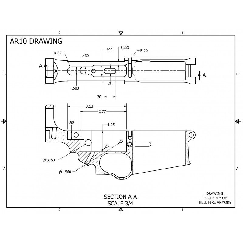 Pps 43 receiver dimensions crafts in 2020 | Ar 10 lower. Lower receiver. Ar lower receiver