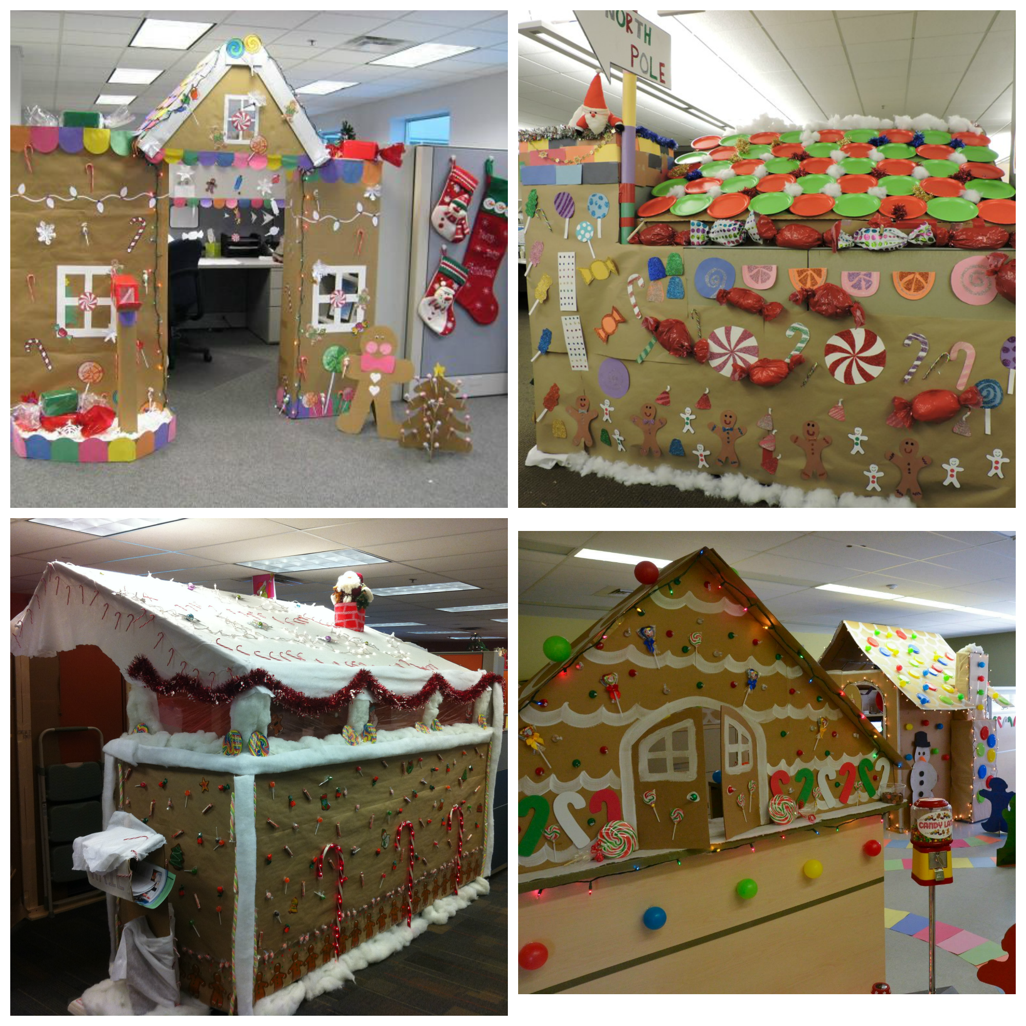 gngerbread chrstmas cubcle chrstmas offce decor.htm how to turn your office cubicle into a winter wonderland  with  office cubicle into a winter wonderland