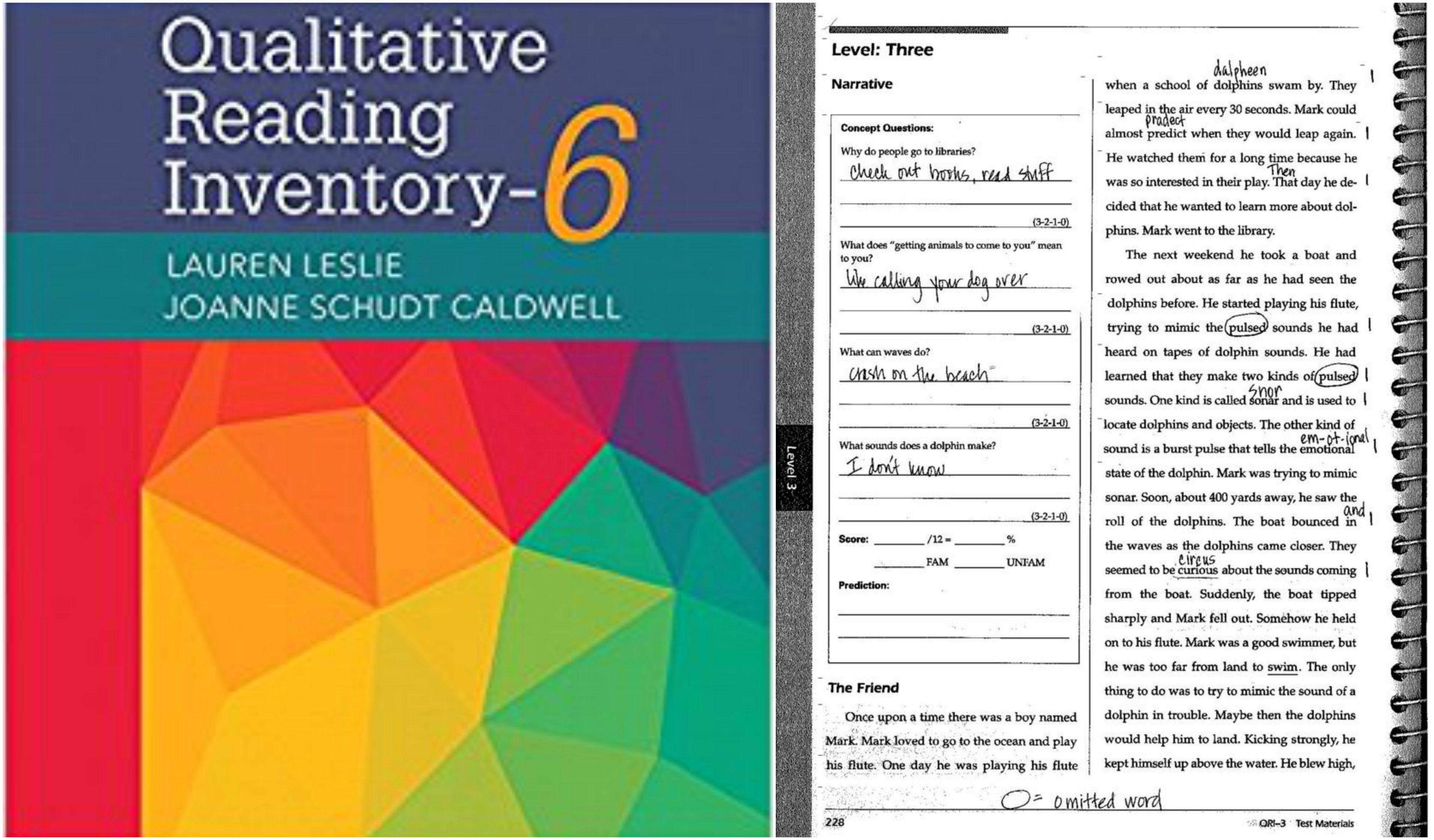 ASSESSMENT – Qualitative Reading Inventory (QRI) for ...