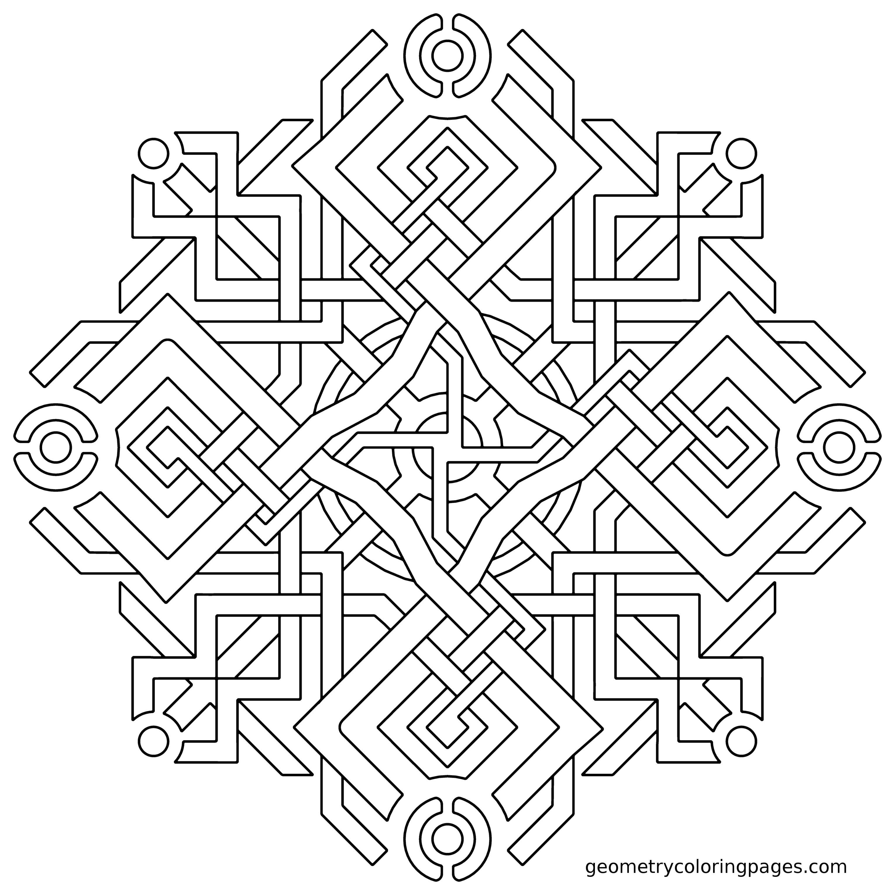 Geometry Coloring Pages All Age Coloring Pages