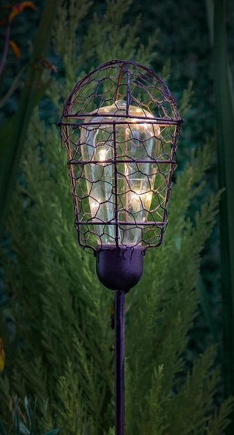 Vintage Style Stake Light These Tall Solar Lighting Stakes Will Give Soft Warm