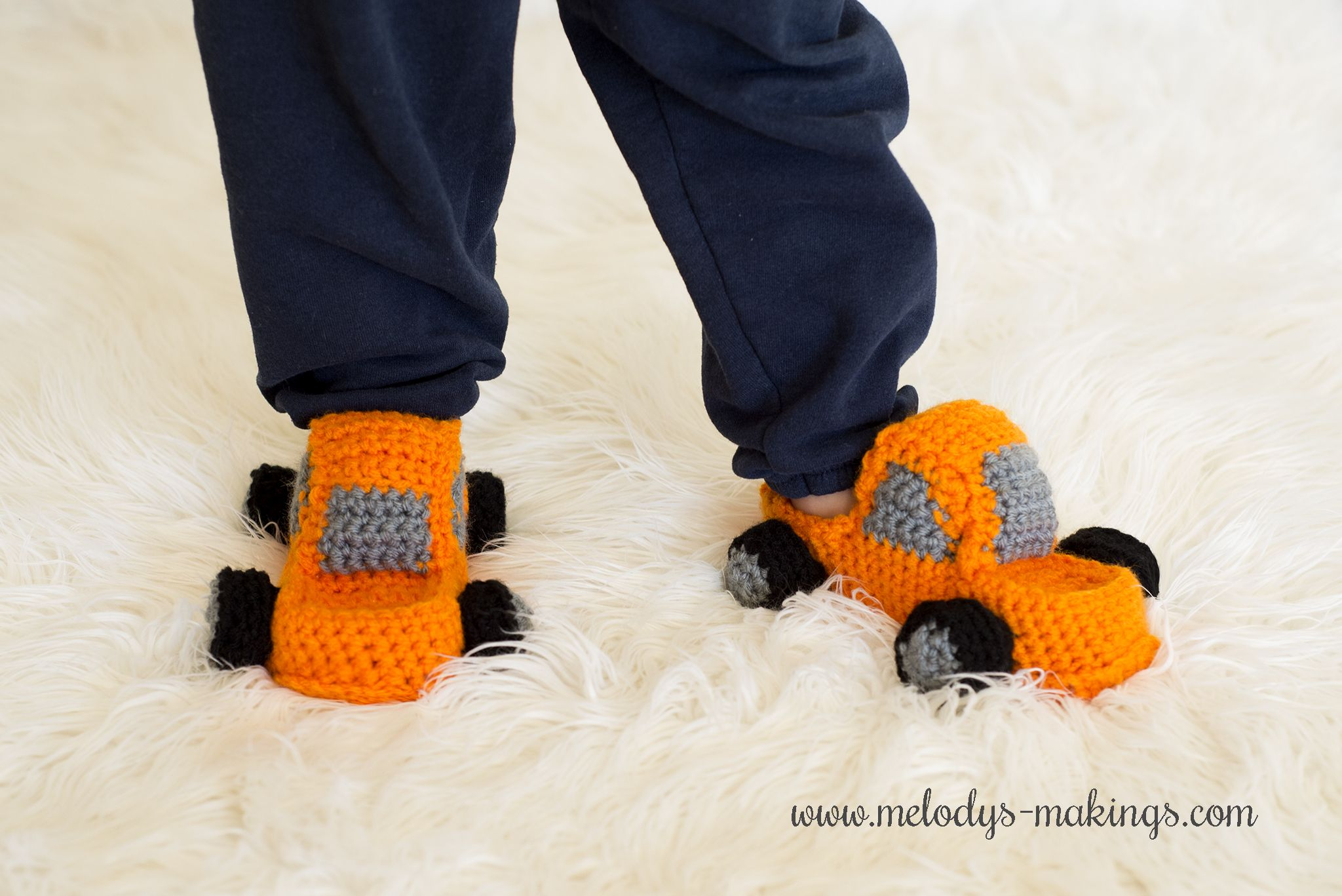 The perfect crochet pattern for any boy! Monster Truck Slippers ...
