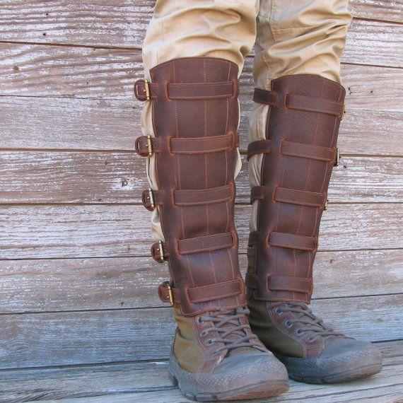 Steampunk Boot Top Leg Guards Adult Costume Accessory Schuhe