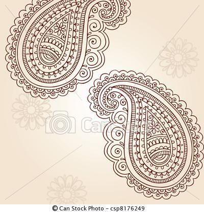 Vector Paisley Henna Doodles Vector Stock Illustration Royalty Free Illustrations Stock Clip Art Icon Stock Clipart Icons Lo Con Imagenes Henna Mehndi Mehndi Doodle