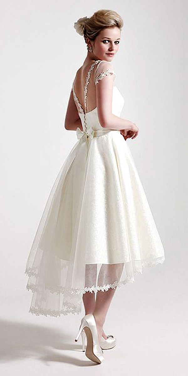 Top 18 High Low Wedding Dresses ❤ See more: http://www ...