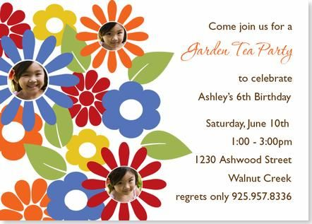Garden party birthday invitation just things i like pinterest garden party birthday invitation filmwisefo