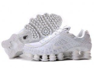Clearance Nike Shox TL1 Women All White Shoes