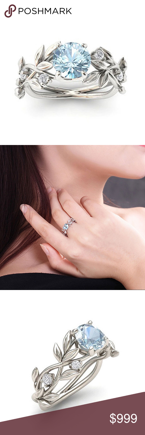 COMING SOON!! Light Blue Crystal Princess Ring | Blue crystals ...