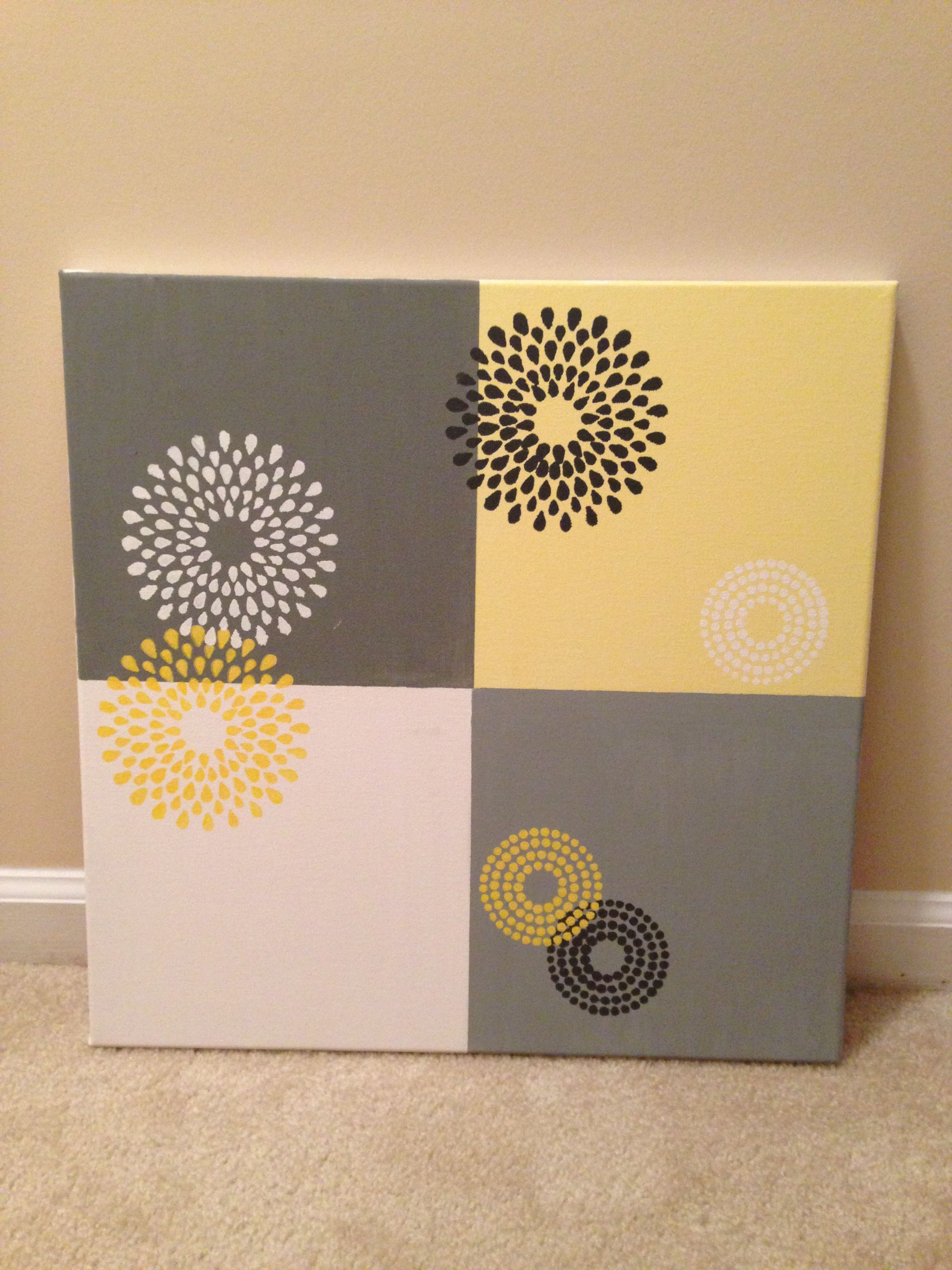 canvas painting for bedroom {thank you, Martha Stewart stencils ...