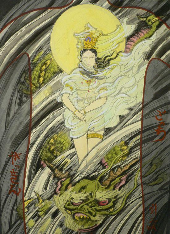 Ki Ryu Kannon Goddess Of Mercy Japanese Tattoo Designs