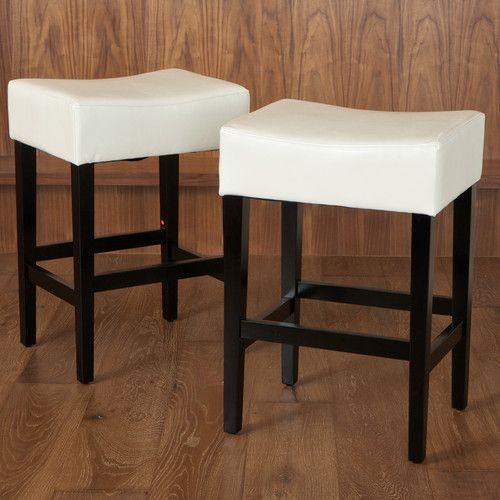 Lorraine 26 75 Bar Stool Leather Counter Stools Backless Bar Stools Counter Stools Backless