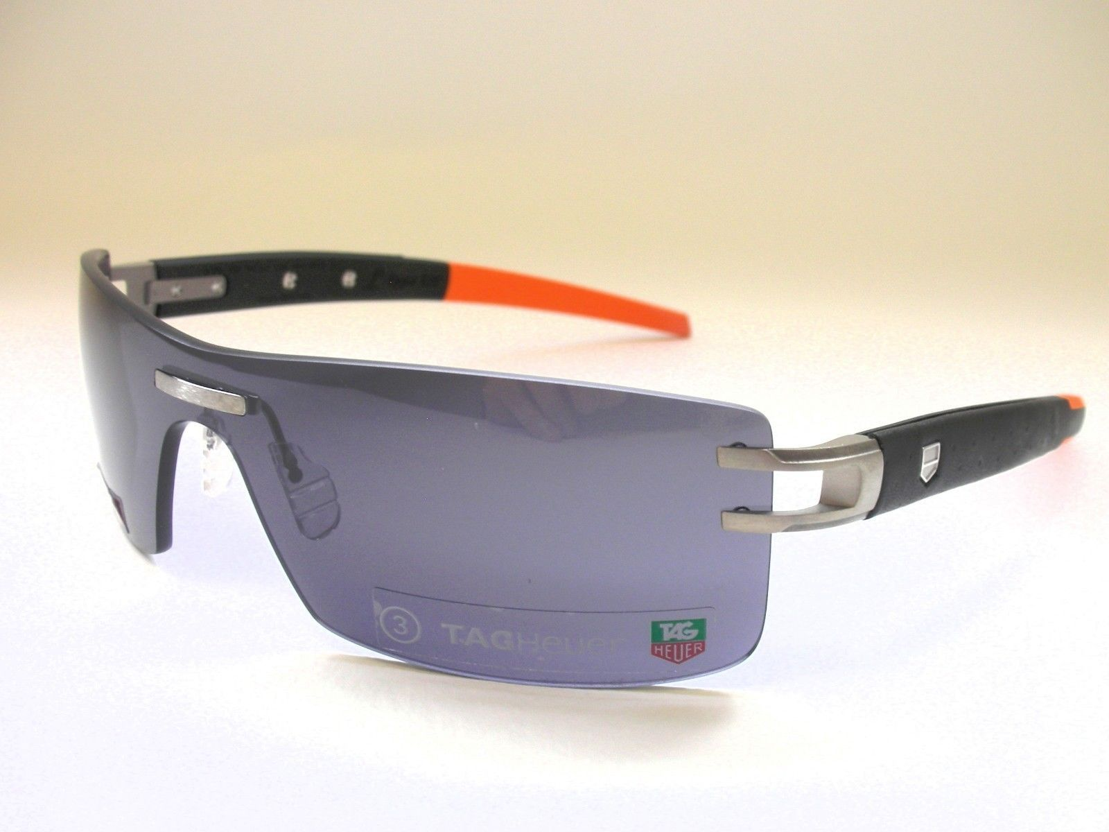 7328984017 Authentic Tag Heuer TH0451 126 L TYPE LW Calfskin Black Leather Grey  Sunglasses