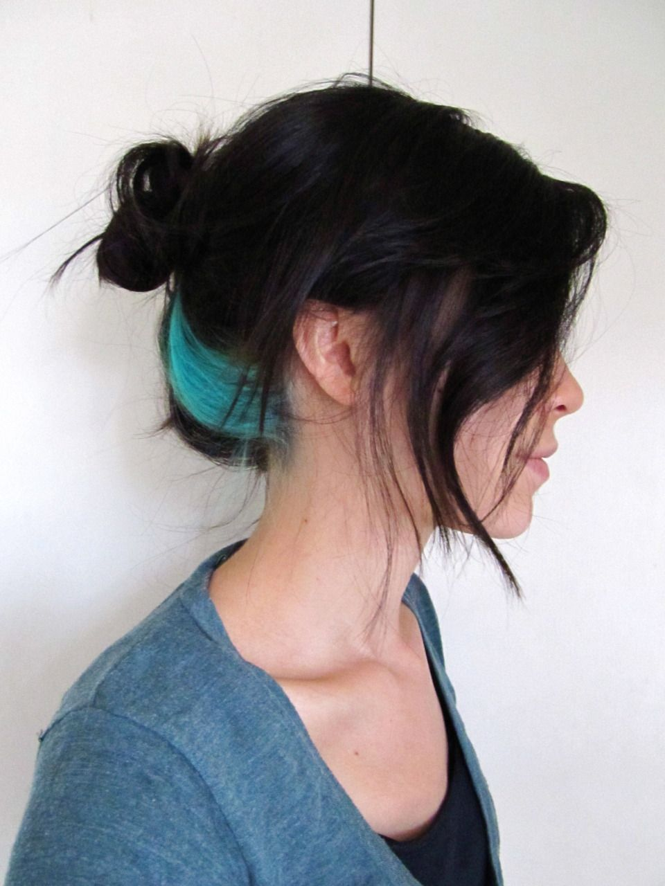 Turquoise Streak Project Tumblr Awesome Color Hair Color Streaks Turquoise Hair Peekaboo Hair