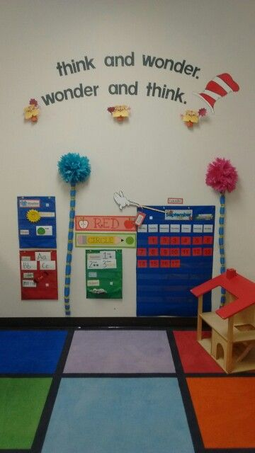 This is my preschool classroom and  i really enjoyed getting my dr.seuss class all ready for my little ones
