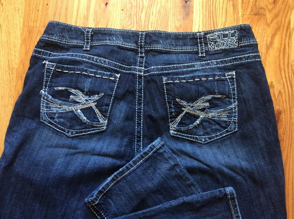 Silver Jeans Women's Size 20 Berkley Straight 40/31 Cute Stitched ...