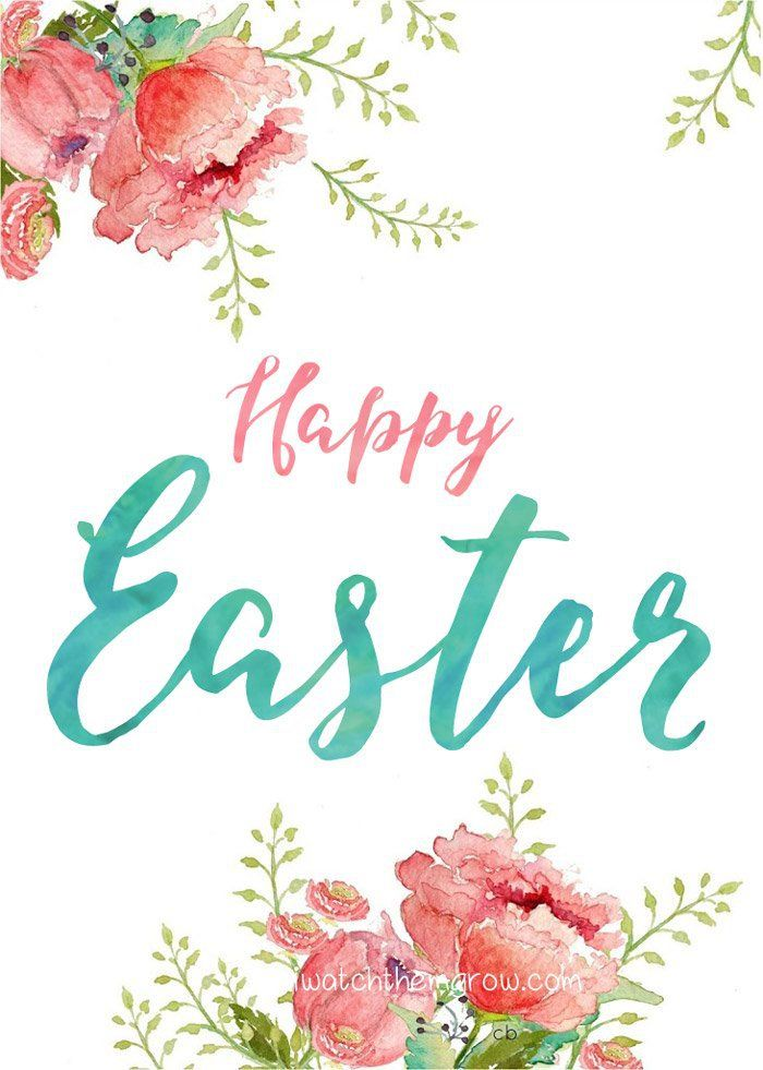 Happy Easter And Hello Spring Printables  Happy Easter Easter