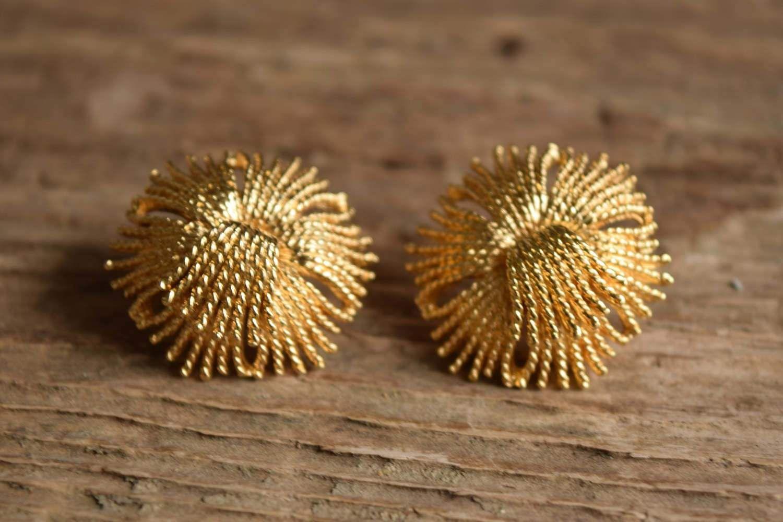 Photo of Golden Burst Stud Earrings