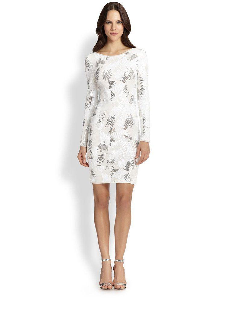 winter white cocktail dress