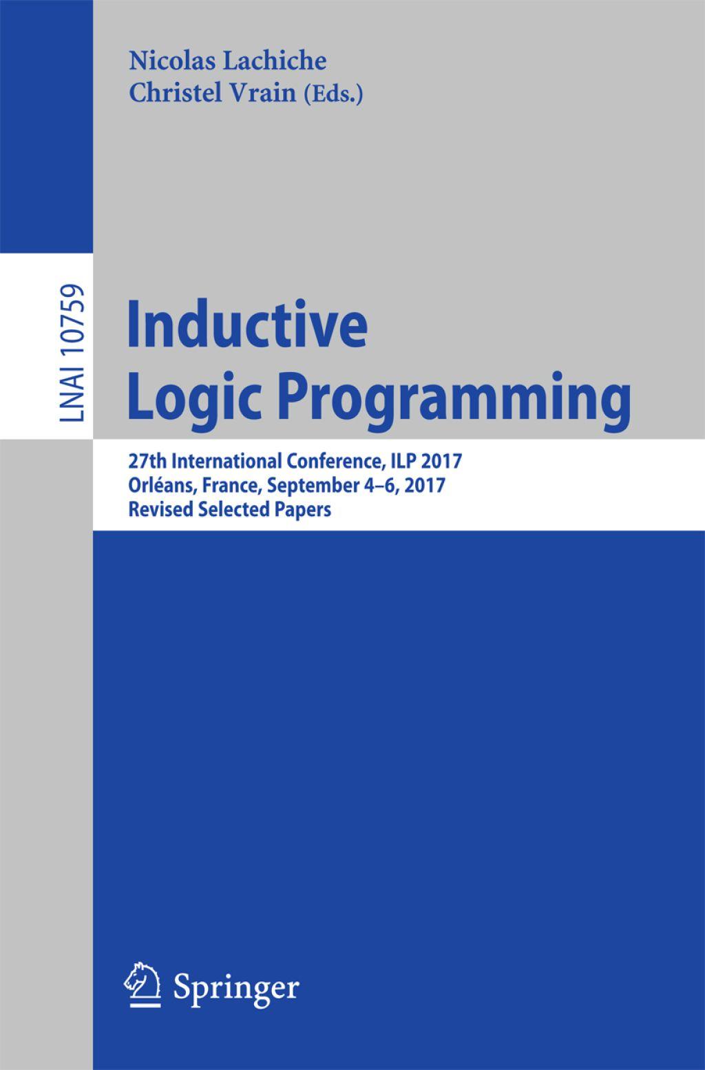 Inductive Logic Programming Ebook Artificial Intelligence