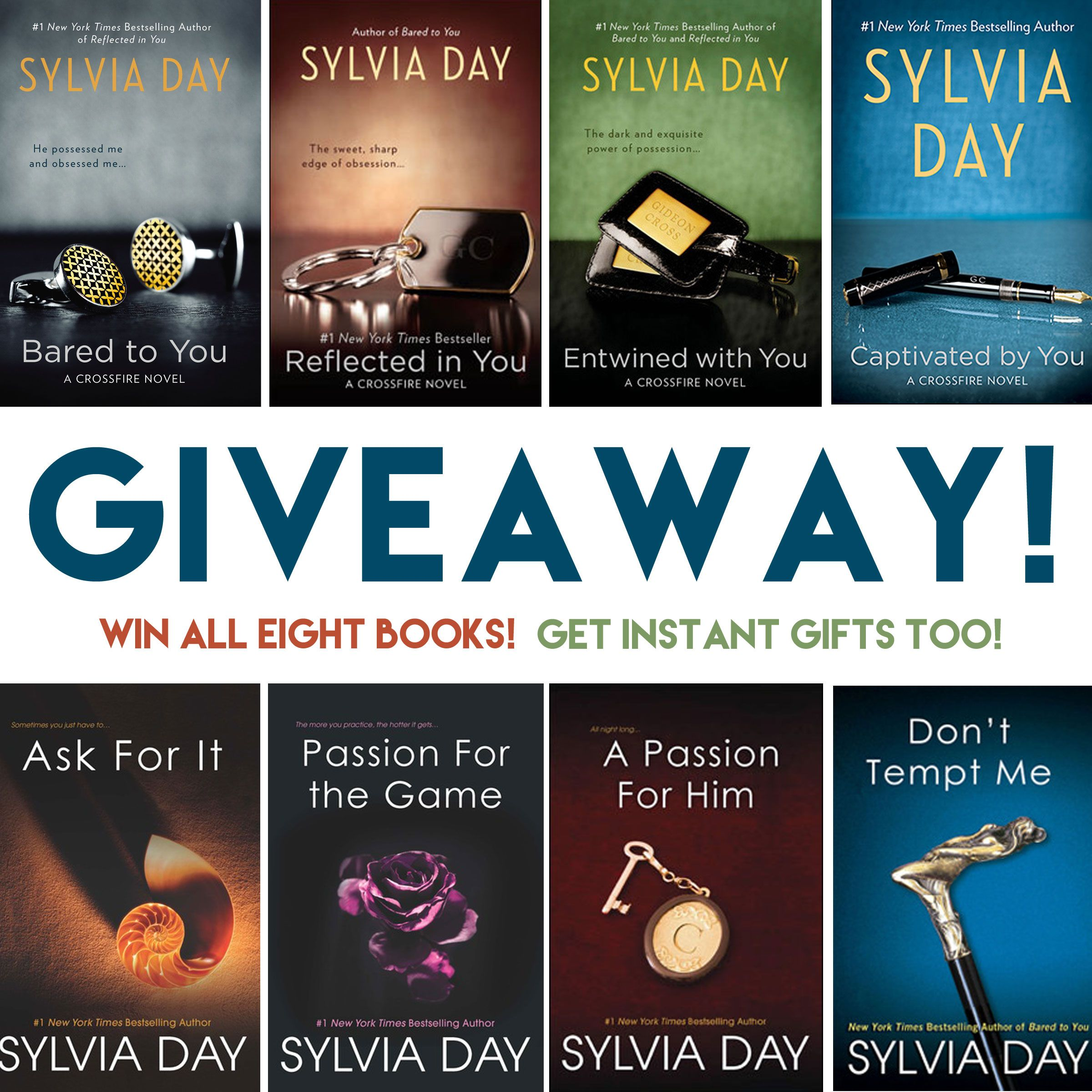 #giveaway: The Crossfire And Georgian Series By Sylvia Day (#win All Eight