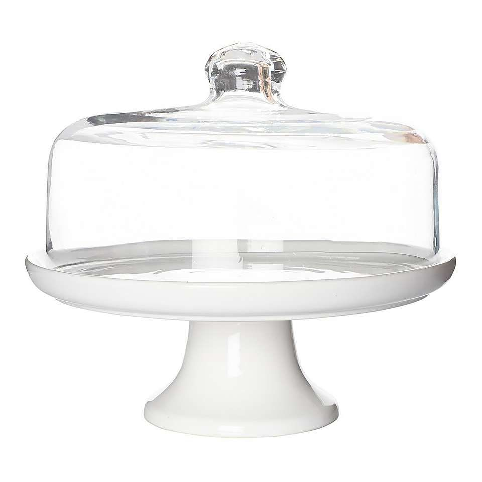 Hotel Canterbury Cake Stand With Dome Lid Dunelm Cake Stand With Dome Cake Stand Kitchen Space Savers