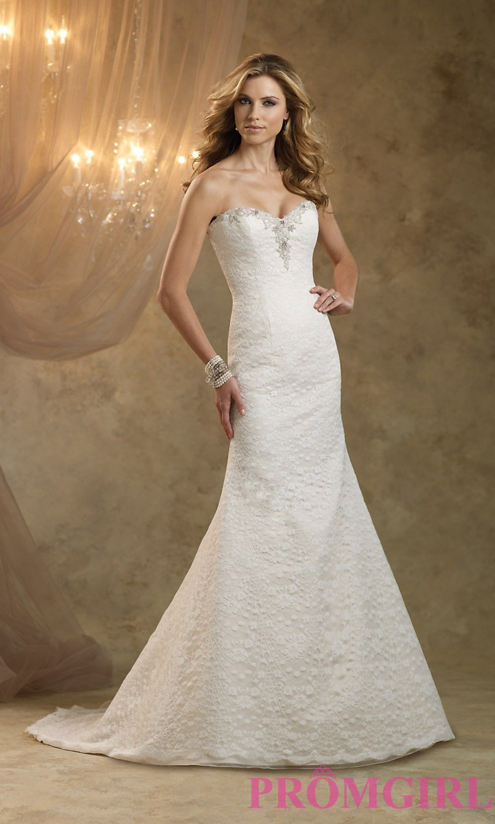 Strapless Lace Gown by Kathy Ireland