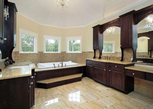 Master Bathroom With Dark Cherry Cabinets Best Bathroom Designs Luxury Bathroom Top Bathroom Design
