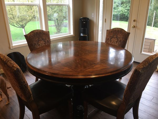 Absolutely Beautiful 60 Round Dining Table For Sale In Kennewick Wa Offerup Round Dining Round Dining Table Dining Table