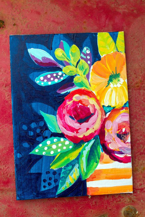 6b9b22302f001f Study of Abstract Flowers No. 06 Original Artwork by AlaskanGrace ...
