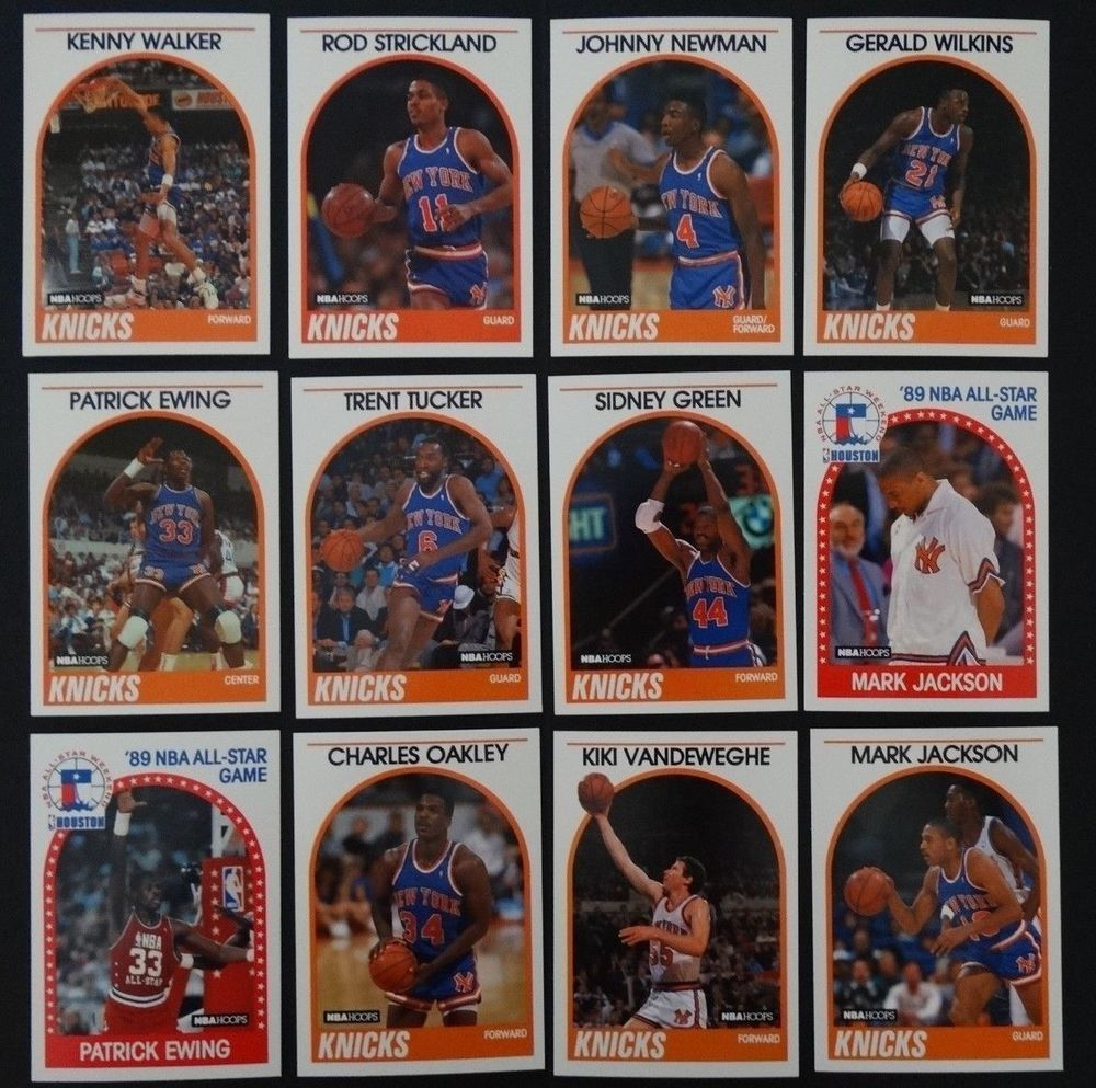 198990 hoops new york knicks team set of 12 basketball