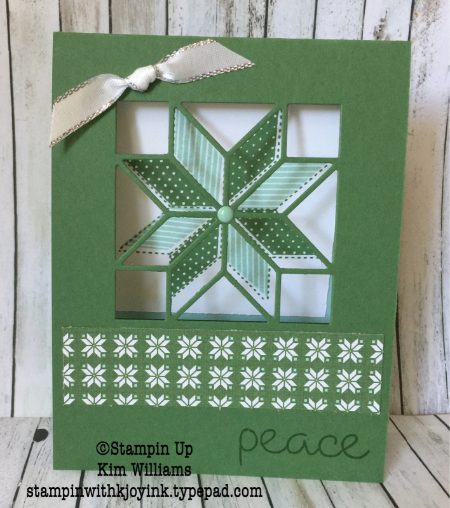 Window Card Stampin Up Christmas Quilt Stamped Christmas Cards Stampin Up Christmas Window Cards