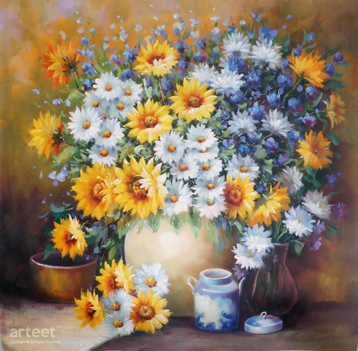 Bouquet of daisies paintings plant art and flowers bouquet of daisies art paintings for sale arteet izmirmasajfo Images