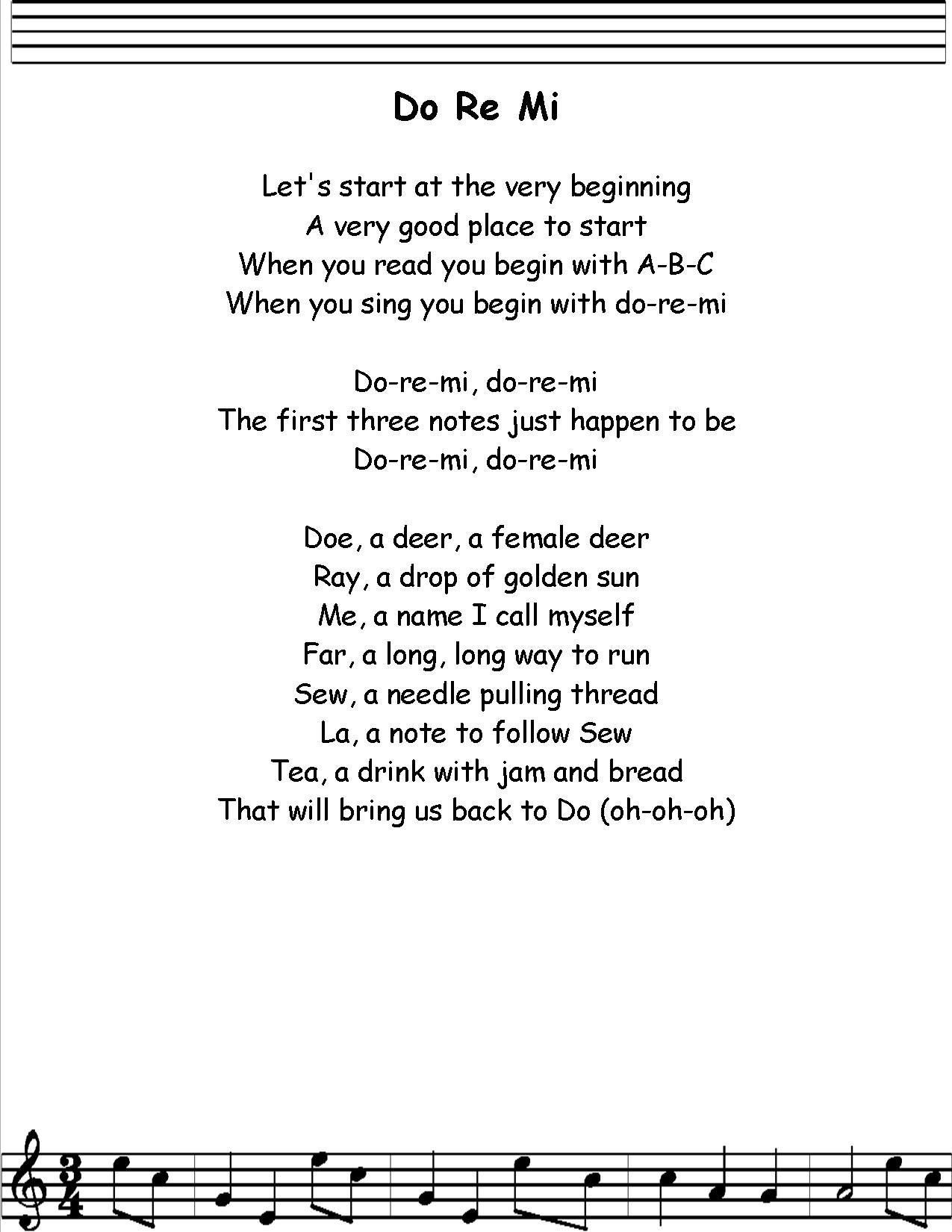 Doremi Jpg 1 275 1 650 Pixels Nursery Songs Kindergarten Songs