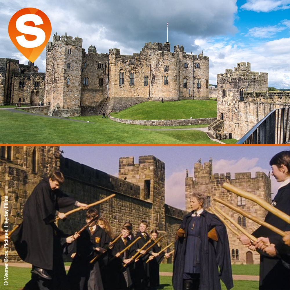 Harry Potter And The Philosopher S Stone At Alnwick Castle Filming Location Filming Locations Alnwick Castle Castle