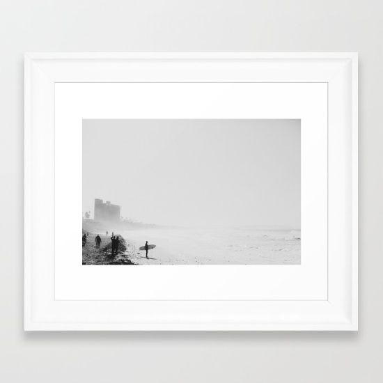 San Diego Surf Beach Framed Art Print   casa.   Pinterest   Beach frame