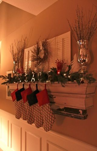 Mantle Without Fireplace Home Decor In 2019 Christmas