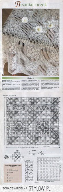 tovaglia / crochet per Stylowi.pl | filets crochets | Pinterest ...