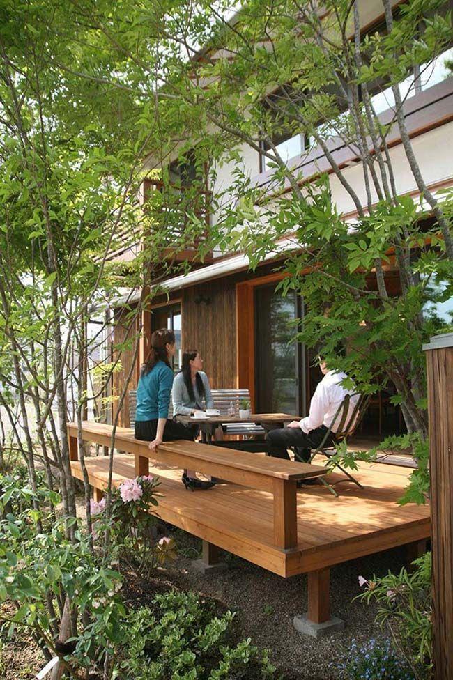 Wood Patio In 2020 Home Garden Design House Design Patio