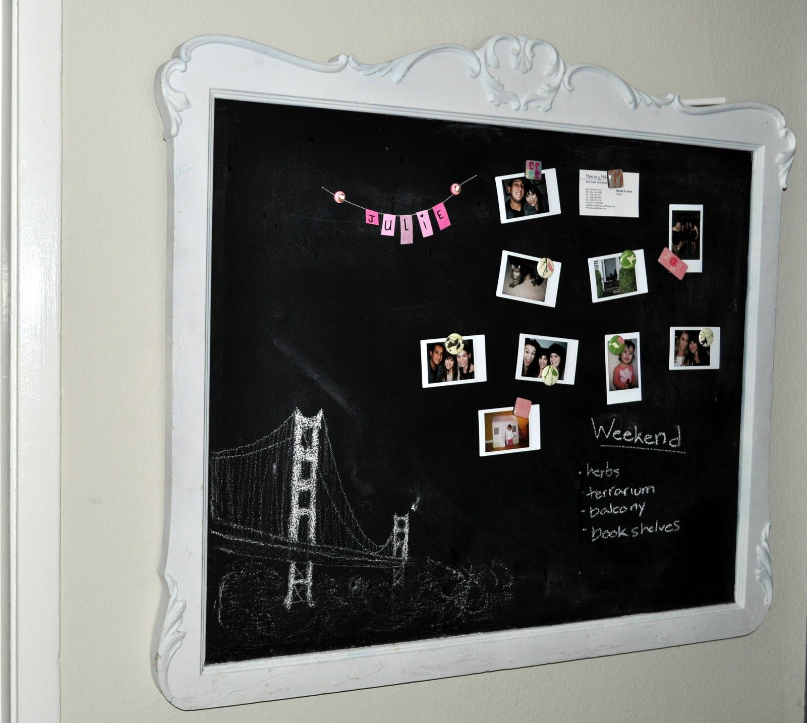 chalkboard paint with frame - Google Search | Sophias Room ...