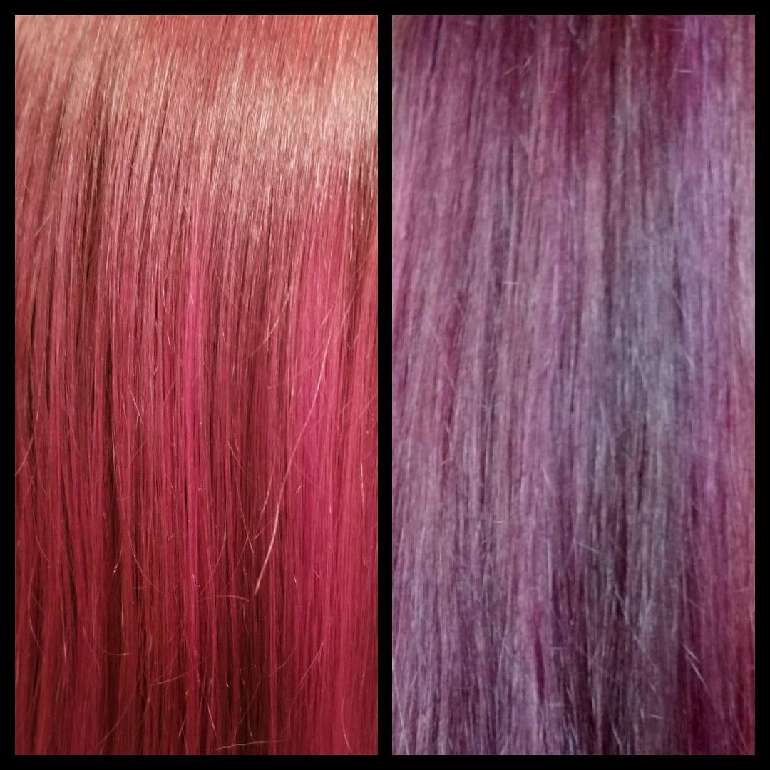 Before & After: Overtone Purple for Brown Hair   Brown ...