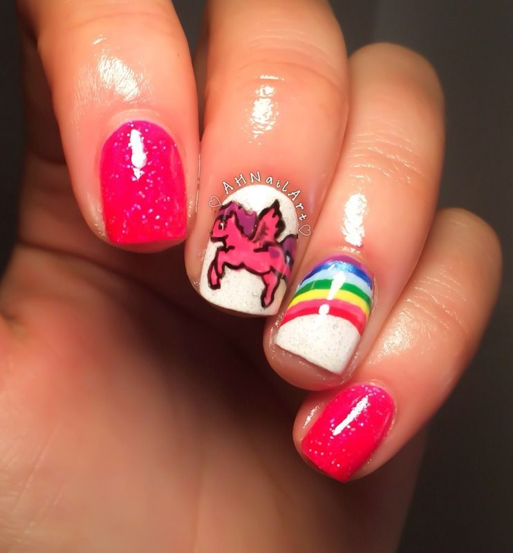 My Little Pony Nails nail art by AH Nail Art   natalies nails ...