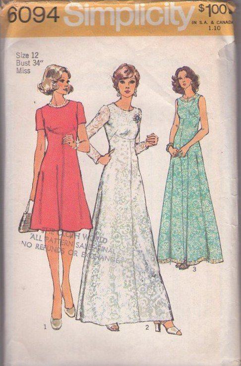 MOMSPatterns Vintage Sewing Patterns - Simplicity 6094 Vintage 70\'s ...